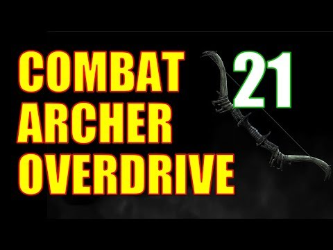 Skyrim Combat Archer OVERDRIVE Walkthrough Part 21: Salmon Roe Fishing (Shooting Fish In A Barrel)