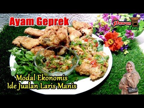 Resep Ayam Geprek Modal Ekonomis ide Jualan Laris Manis ...