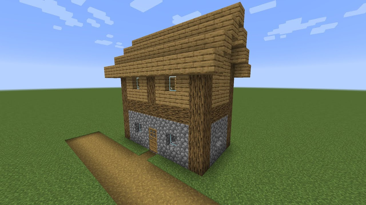 How To Build A Minecraft Village Big House 1 14 Plains Youtube