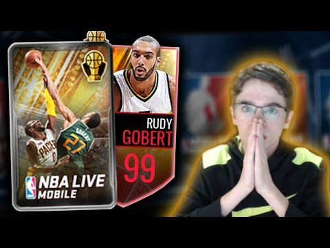 NBA Live Mobile - NBA AWARDS DEFENSIVE PACK OPENING!!! 96 OVERALL PULL!! WE GOT 99 RUDY GOBERT!!