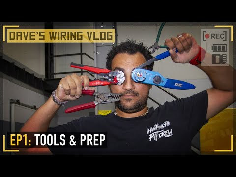 🎥 Ep1: The Car, The Wiring Tools And The Harness Prep | DAVE'S WIRING VLOG