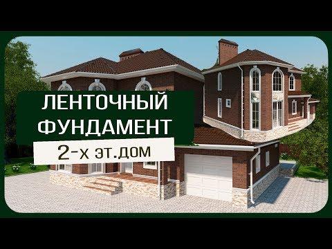 Ленточный фундамент для 2 х этажного дома/Копка/Армирование/Опалубка/Бетонирование/Как сделать?
