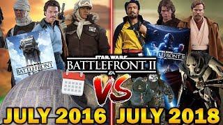 JULY 2016 VS JULY 2018! Star Wars Battlefront 2