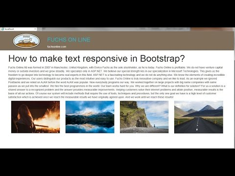 Responsive text in Bootstrap using Fit text