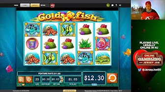 Gold Fish LIVE slots with BONUS [Online Gambling with Jersey Joe # 79]