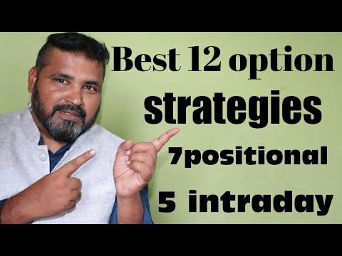 Best 12 option trading strategies (7positional+5intraday)for stock nifty.Bank nifty.100%safe.nse.bse