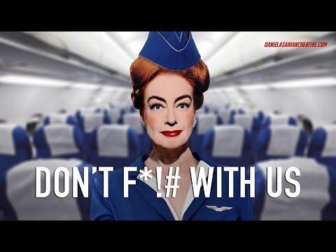 BREAKING! United Airlines Hires Joan Crawford - Parody