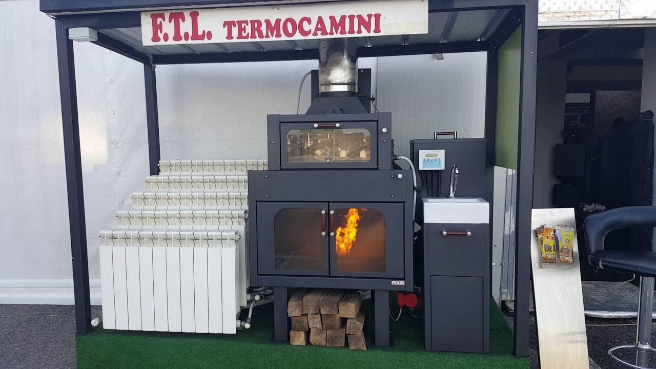 Termocamino con forno legna pellet con accensione dall for Ftl termocamini