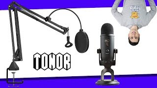 Blue Yeti Mic Arm Stand Setup // TONOR T20 Microphone Arm Stand Review