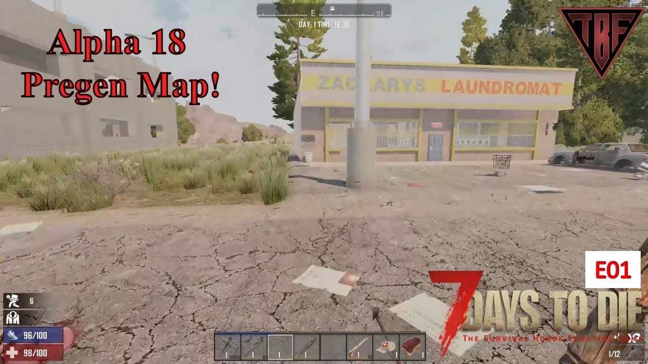 7 Days To Die Alpha 18 7d2d A18 Pregen Map 01 Random Gen