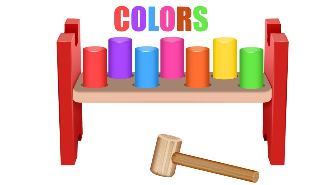 Learn colors with Hammer wooden toys Colours for Children