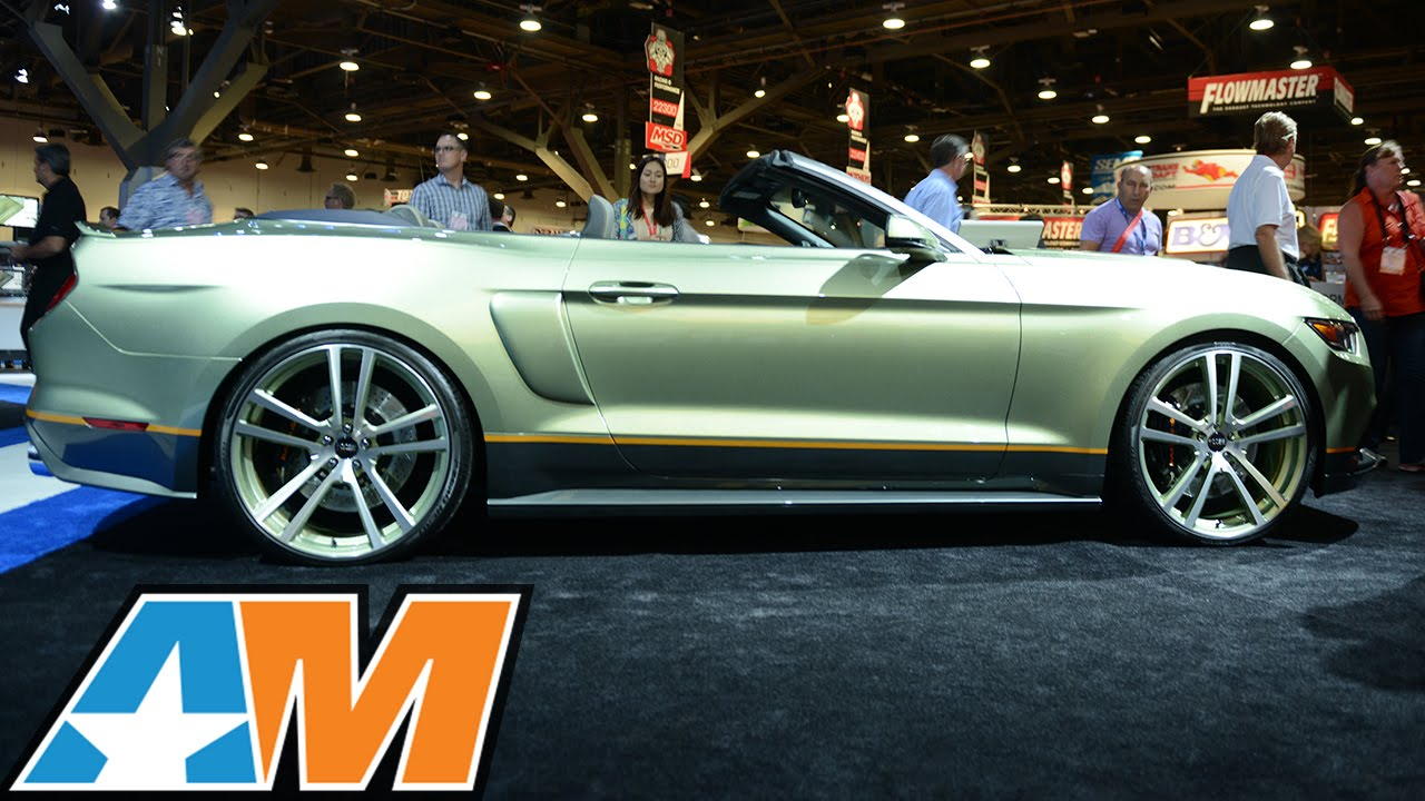2015 Mustang Wheels >> SEMA 2014: Legend Chip Foose Builds 2015 Mustang w/MMD - YouTube