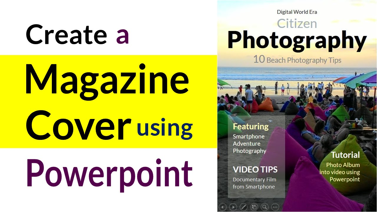 Make your own Photography Magazine Cover in Powerpoint - Beginners ...