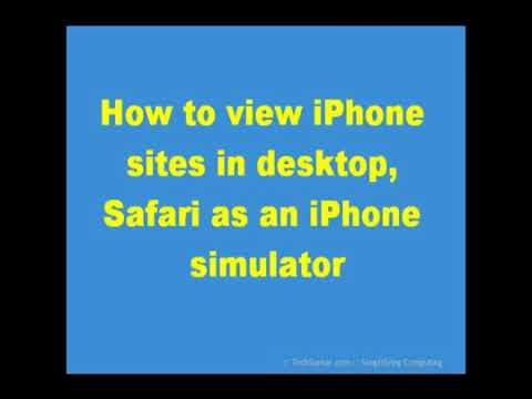 Using Safari web browser as an simulator to view iPhone iPod designed websites