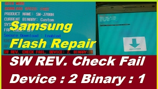 how to repair sw rev check fail device 2 binary 1 100 done