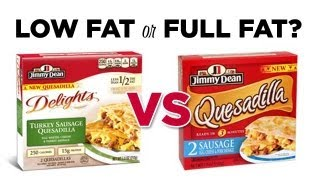 Low Fat or Full Fat? Jimmy Dean Sausage Quesadilla Comparison: Freezerburns (Ep550)