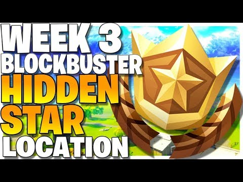 Blockbuster Week 3 Secret Star Location - How To Get 10 Free Battle Stars (Hidden Blockbuster Star)