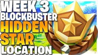 Blockbuster Week 3 Secret Star Location - How To Get 10 Free Battle Stars (Hidden Blockbuster Star)