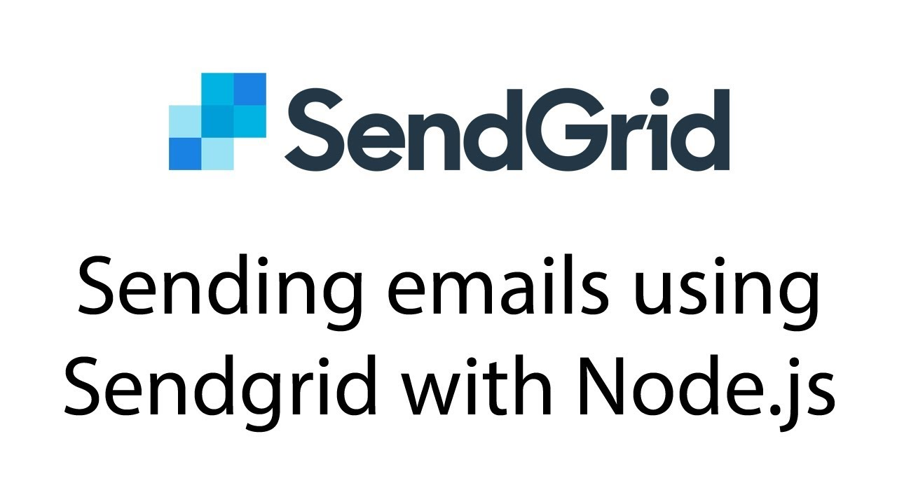 Sending emails using Sendgrid with Node js