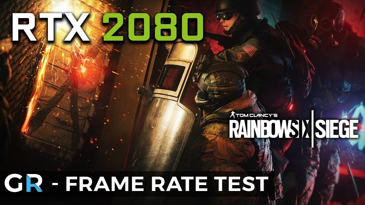RTX 2080 R6 SIEGE | 1080p/1440p/2160p/Max Settings | Frame Rate Benchmark  Test