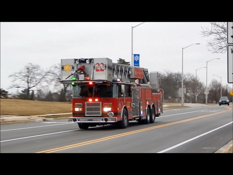 Hoffman Estates Fire Department Battalion 6 and Tower Co. 22 Responding