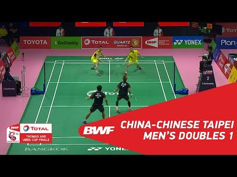 Thomas Cup | MD1 | LIU/ZHANG (CHN) vs LEE J./LEE Y. (TPE) | BWF 2018