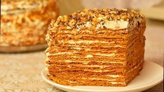 тОРТ МЕДОВИК ♥ МАМИН РЕЦЕПТ МЕДОВИКА ♥ Honey Cake Recipe. Готовить просто с Люсьеной