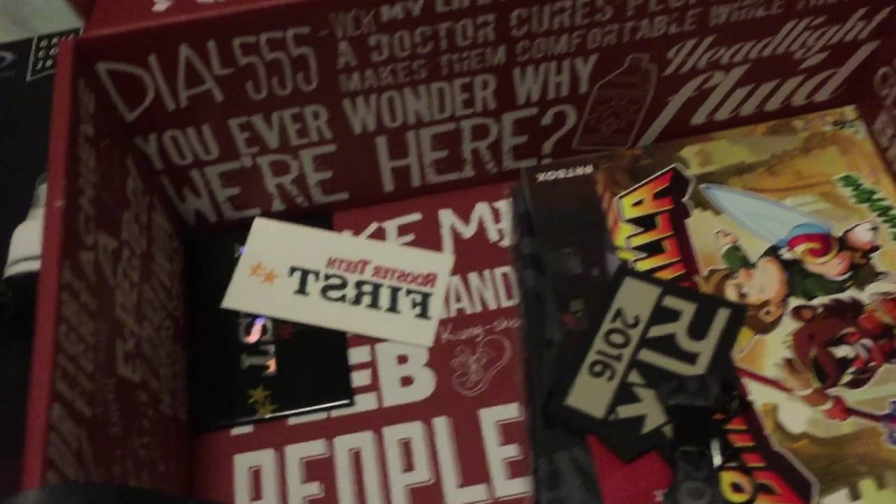 rooster teeth first double gold rtx exclusive rtbox unboxing youtube