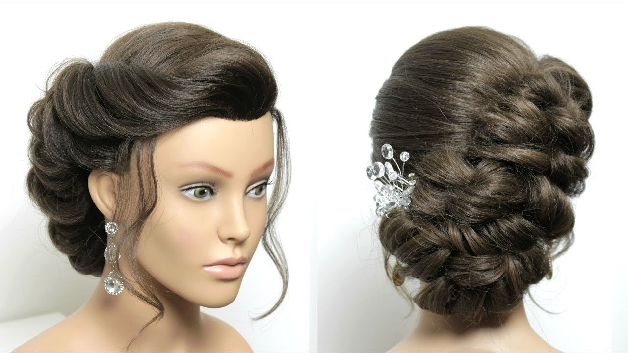 beautiful side wedding hairstyle for long hair