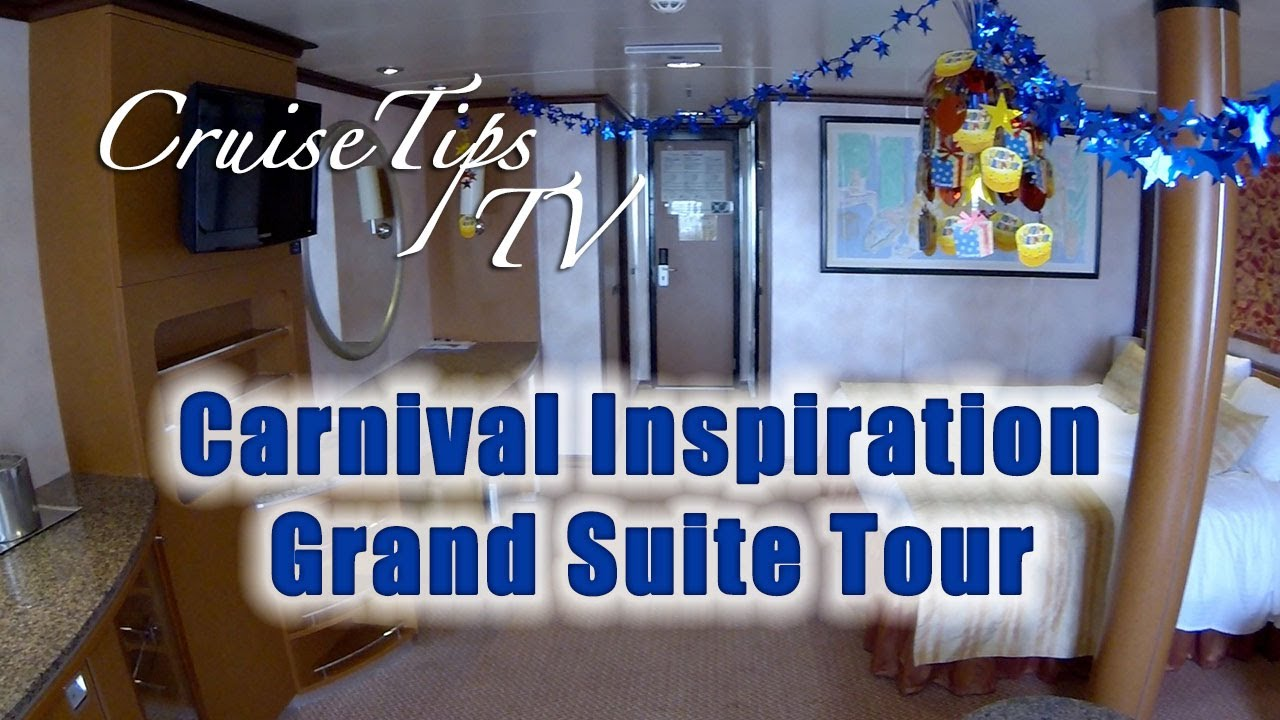 Cruise Tips Tv Carnival Inspiration Grand Suite Tour U79