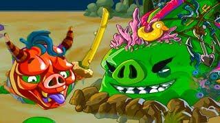 Angry Birds Epic #114 игра про Мультик Кракен приключение маленьких птичек Bad Piggies #КРУТИЛКИНЫ