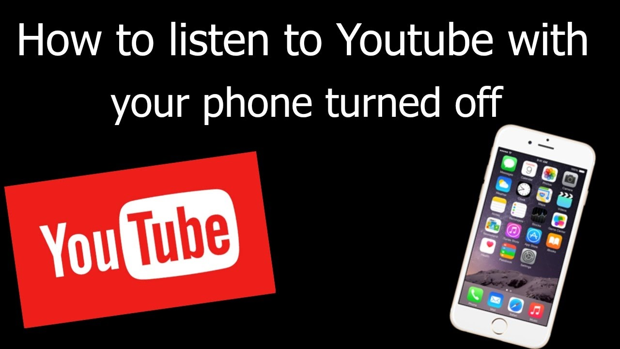 How To Listen To Youtube With Your Phone Off Or In The Background Ios 8 9 10 Youtube