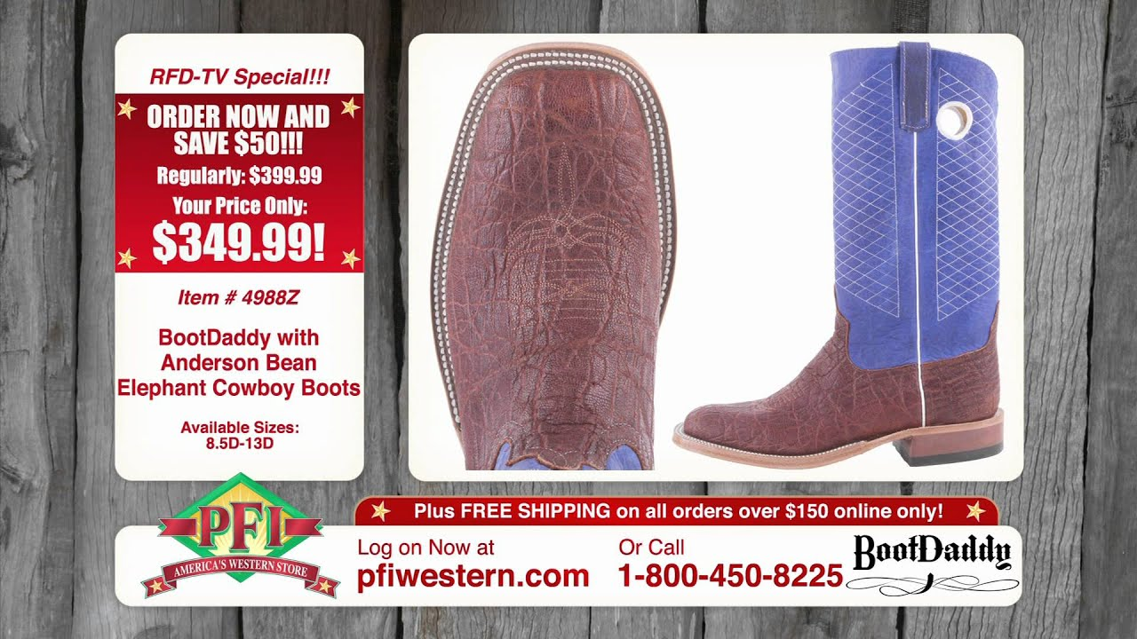 72d5263713dc6 PFI BootDaddy by Anderson Bean Womens Big Bass Tooled Cowboy Boots Brown