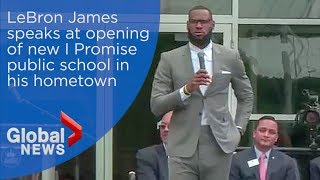LeBron James full speech at opening of I Promise School in Akron, Ohio thumbnail
