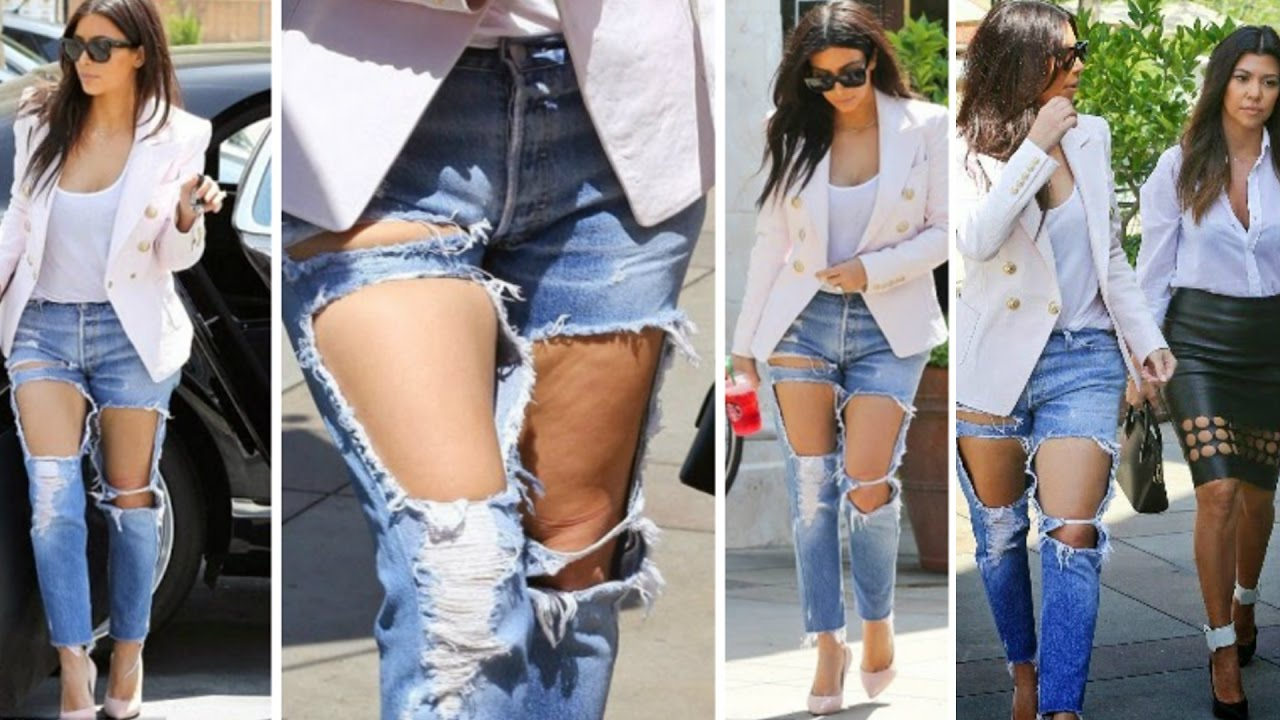 Sexy Torn Jeans Making Tricks - Ripped jeans tutorial - YouTube