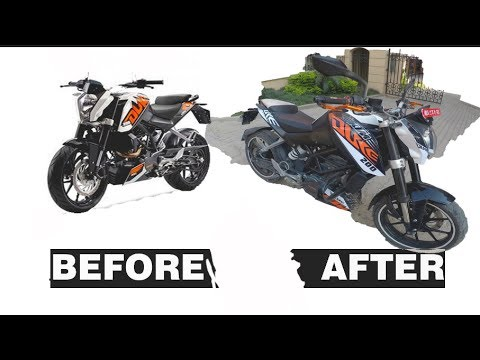 KTM Duke 200 new modified graphics | 3N Stickers | Nepal