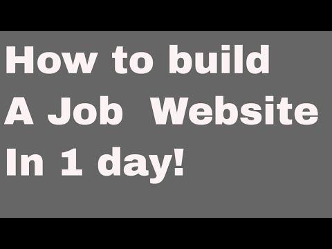 Web development tutorial - recruitment platform -  - 2 - Installation and setup