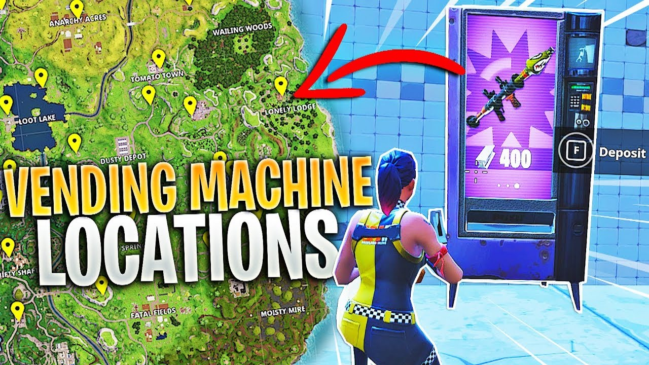 all fortnite vending machine locations youtube. Black Bedroom Furniture Sets. Home Design Ideas