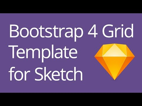 Bootstrap 4 Grid Template for Sketch Tutorial , YouTube