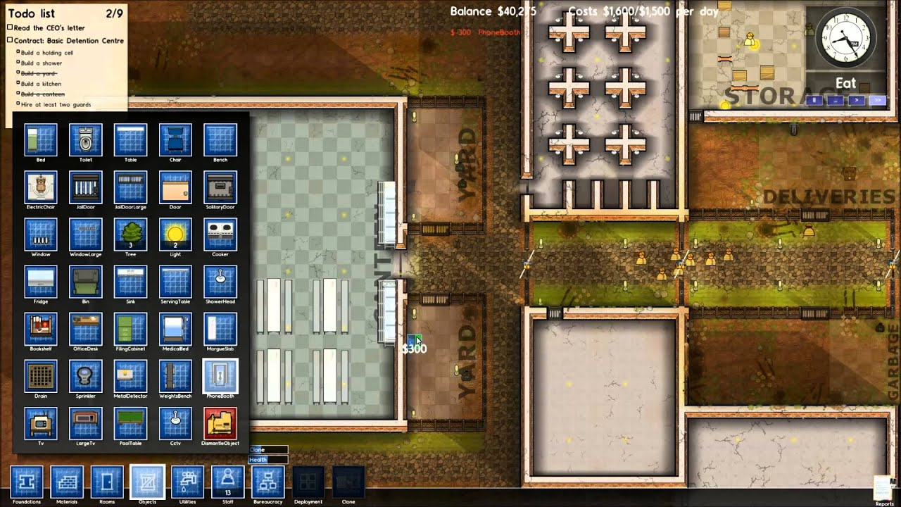 Lets Play Prison Architect V2 Part 2 The Luxury Institution