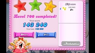 Candy Crush Saga Level 700   ★★★   NO BOOSTER