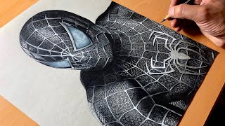 Drawing Spider-Man Symbiote Suit - Black Suited Spiderman - Marvel - Timelapse | Artology
