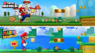 New Super Mario Bros Wii 1-1 Recreated in Super Mario 3D World