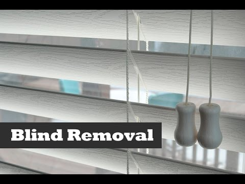 How To Remove Amp Install Vinyl Blinds Diy Blind