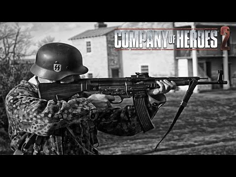 SS Holding The Hill! - Company of Heroes 2 in 4k! - Spearhead Mod