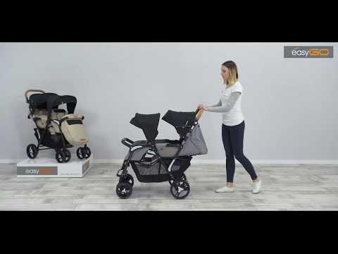 Обзор прогулочной коляски для двойни EasyGo Fusion Duo 2019