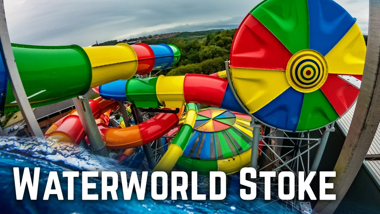 Download ALL BIG WATER SLIDES at Waterworld Stoke-on-Trent, England!