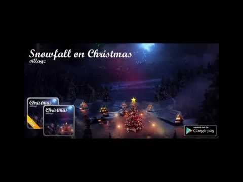 Christmas village live wallpaper