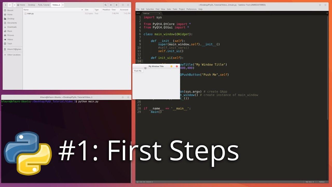 Python GUI Development #1 - First Steps