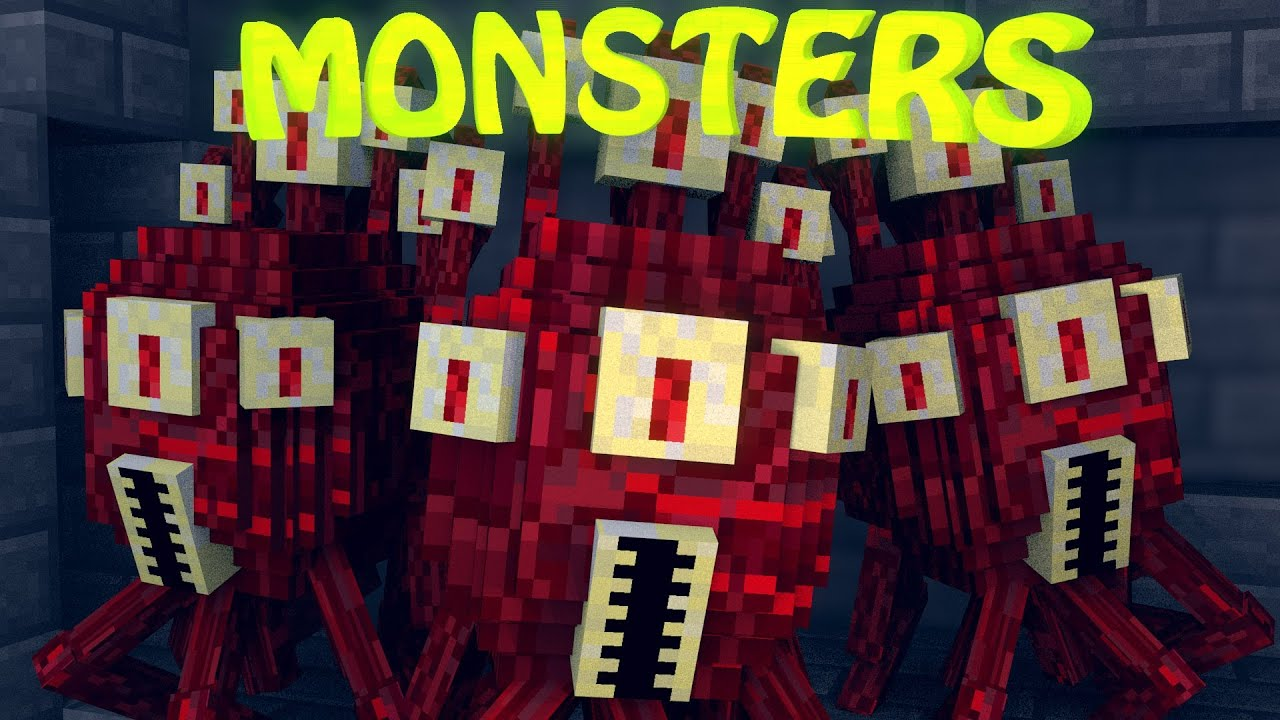 Find A Code >> Minecraft | MONSTERS MOD Showcase! (Dungeon Mobs Mod ...
